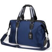 Jantens  Man Portable Shoulder Bag Foldable Bag Business Travel Package Diagonal Diagonal Travel Bag Blue