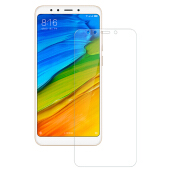 JOYSEUS 3D Full Cover Tempered Glass For Xiaomi Redmi 5 plus TRANSPARENT glass Screen Protector Glass Full Cover Curved Edge 1 Pack-Transparan