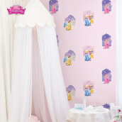DREAM WORLD - Girl Room Pricess Garden D5072-1 ( 1.06 x 15.60m )