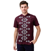 SALT N PEPPER Mens Koko Short Sleeve SNP 026 KS SNP0261705 - Maroon