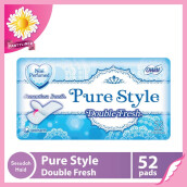 CHARM Pantyliner Pure Style Double Fresh Non Perfumed 52 pads