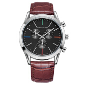 HANNAH MARTIN Men's Leather Strap Watch 304