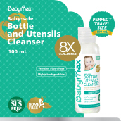 BABYMAX Premium Natural Baby-safe Bottle and Utensils Cleanser 100ml