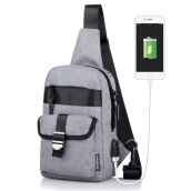 SiYing S380 New multi-functional men's shoulder bag / chest bag/USB charging