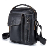 Jantens  Genuine Leather Men Shoulder Crossbody Bags Cow Leather Fashion Handbag Brand Casual Men