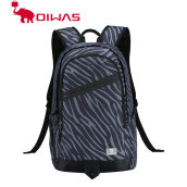 Oiwas Leisure Style School Backpack S Shape Strapes Computer Unisex Zebra-striped black