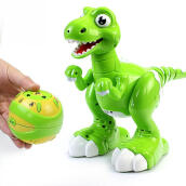 Jantens Fog Spray Dinosaur Toy Multifunctional Light Music Dancing Children Toy green