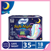 CHARM Pembalut Safe Night 35cm Wing 18 pads