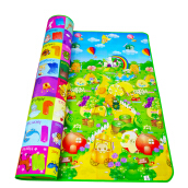 Double Sided Animal Car+Fruit Letter Baby Play Mats Crawling Pad Kids Game Carpet Toys