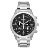 Citizen AN8150-56E Chronograph Men Black Dial Stainless Steel Strap [AN8150-56E]