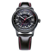 FIYTA Men Mechanical Black Leather Strap Automatic Watch GA8380.BBB [GA8380.BBB]