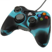 [OUTAD] Silicone Cover Joystick Gel Skin Soft Protective Case for Xbox 360 Wireless Controller Blue Black