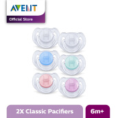 AVENT SCF170/22 Soother 6-18m Translucent Srp 2pk - Assorted Colors