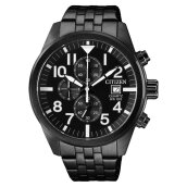 Citizen AN3625-58E Classic Chronograph Men Black Dial Black Stainless Steel Strap [AN3625-58E]