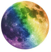 Luminous moon glow in the dark Wall stickers Home Decor  20cm