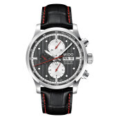 Mido M005.614.16.061.22 Multifort Chronograph Automatic Black Dial Black Leather Strap [M005.614.16.061.22]