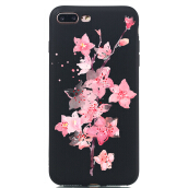 MOONMINI Painting Soft TPU Ultra Slim Fit Anti-Scratch Protective Case for iPhone 7 Plus  iPhone 8 Plus