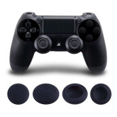 [OUTAD] Analog Thumb Grips 3D Joystick Silicone Cap for PlayStation 4 Controller PS4 Black