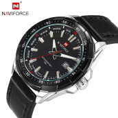 2018 New NAVIFORCE Brand Men Quartz Watches Leatehr Waterproof Date Casual Clock