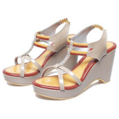 SANDAL HIGH HEELS / WEDGES KASUAL WANITA - BDM 683