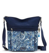Sakroots Nylon Top Zipper Sling Bag Blue Steel Spirit Desert