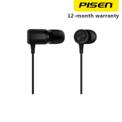 Pisen In-Ear Earphone Dual Dynamic Hitam