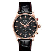 Mido M005.417.36.051.20 Multifort Chronograph Black Dial Black Leather Strap [M005.417.36.051.20]