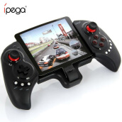 iPega PG-9023 Wireless Bluetooth Gamepad Bluetooth Gaming Consoles Gamepad Adjustable Brackets for Android/ Tablet PC Phone Black
