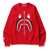 BAPE SHARK CREWNECK RED - C SIZE L
