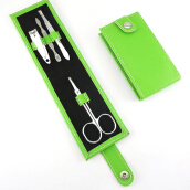Anamode 4pcs Nail Clippers Scissors File Tweezers PVC Bag Case -Onesize -