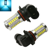JMS - 1 Pair (2 pcs) Lampu LED Headlight / Foglight 9006 / HB4 33 SMD 5730 - Crystal Blue