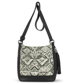 Sakroots Seni Flap Crossbody Bag Jet Brave Beauti