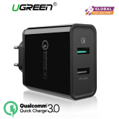 UGREEN Dual USB Wall Charger Fast Mobile Phone Wired Charger with Quick Charge 3.0
