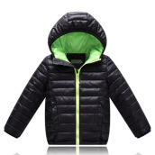 Anamode Boys Girls Winter Coat Duck Down Jacket Children Feather Coat With Hooded -Black