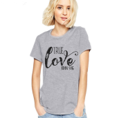 MMIOTTrue Love JOH English alphabet digital printing women's fashion T-shirt