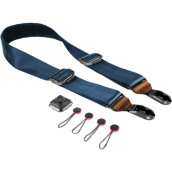 Peak Design Slide Summit Camera Strap SL-T-2 (Navy with Caramel Leather)