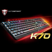 HOT SALE MOTOSPEED 104Keys USB Wired Pro Gaming Keyboard with 7 Colors LED Backlit Gaming Esport Keyboard for PC desktop Black