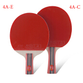 table tennis supplies genuine double fish four-star Straight Grip table tennis racket One Size