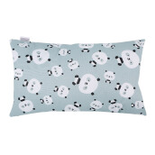 JOYLIVING Cushion Rectangular Panda 30 cm x 50 cm - Grey