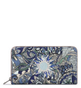 Sakroots Large Zip Around Wallet Blue Steel Spirit Desert