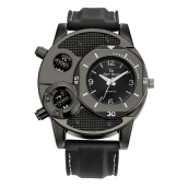Farfi V8 Cool Men's Bolts Round Dial Sports Analog Quartz Wrist Watch Black