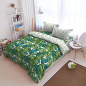 Kintakun Bed Cover D'luxe - 180 x 200 (King) - Green Forest