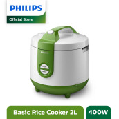 PHILIPS Rice Cooker 2 L HD3119/30 - Basic Green