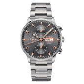 Mido M016.414.11.061.00 Commander II Chronograph Automatic Grey Dial Stainless Steel Strap [M016.414.11.061.00]