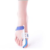 BANGLONG 1Pair Corrector Night Splint Foot Pain Relief Tools Feet Care Big Toe Separator Corretor Straightener -Blue White
