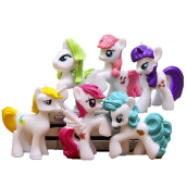 BANGLONG 6pcs Animation Kids Toys Cartoon Little Horse Action Figure Toy -One Size -Randomly