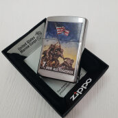ZIPPO 29596 US Marine Corps Now All Together Brushed Chrome