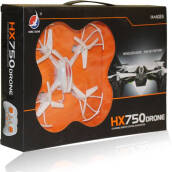 Kaptenstore Mainan Anak RC Drone HX 750 /HX 750 - 6 Ch Headless Mode One Key Return Remote Control Bright Black