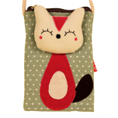 SiYing Cloth Personality Cartoon Canvas Girl Crossbody Bag