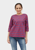 Point One GRICELLE plaid Blouse 357481